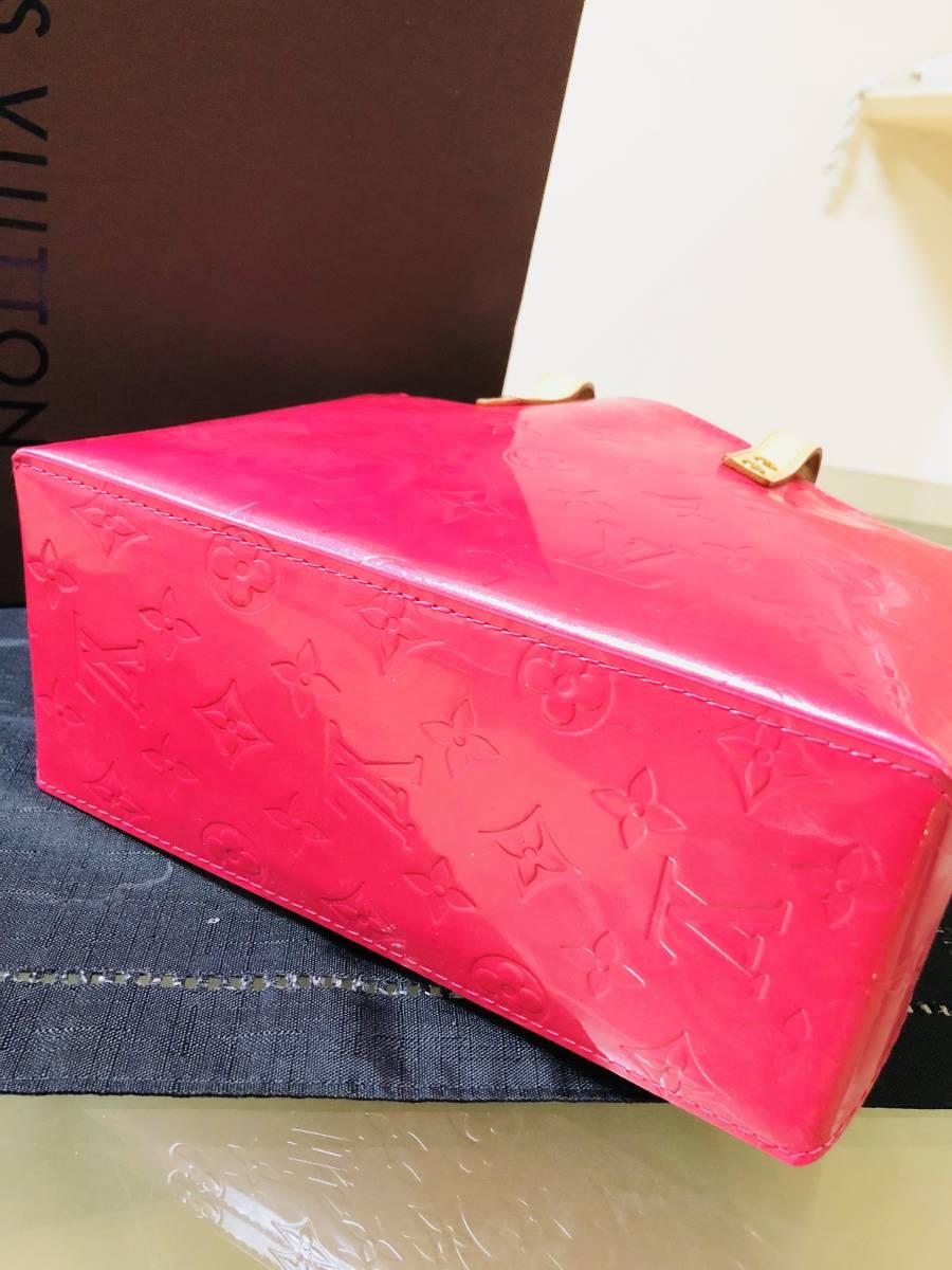 ◆ 新品 未使用 ◆箱付き! ルイヴィトン LOUIS VUITTON ヴェルニ ライン リードPM ピンク バッグ_画像3