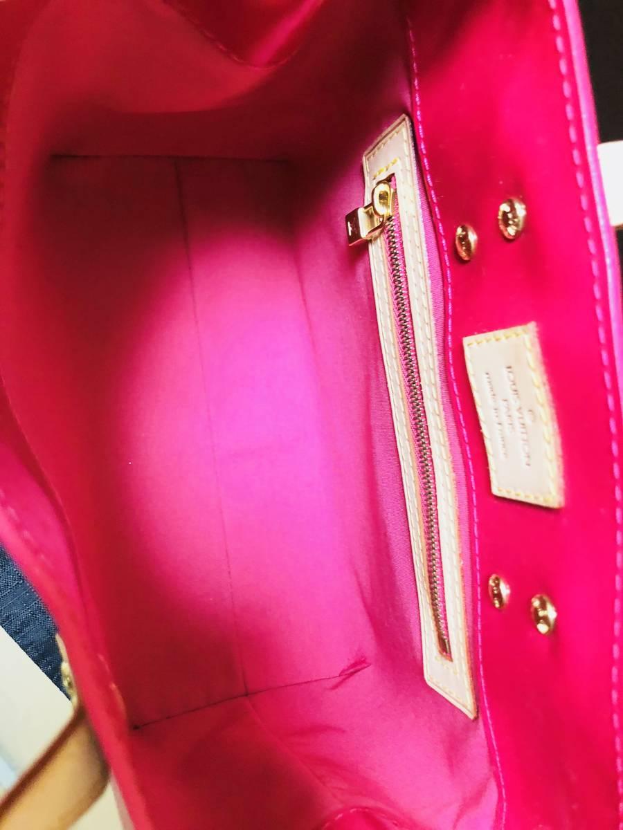 ◆ 新品 未使用 ◆箱付き! ルイヴィトン LOUIS VUITTON ヴェルニ ライン リードPM ピンク バッグ_画像4