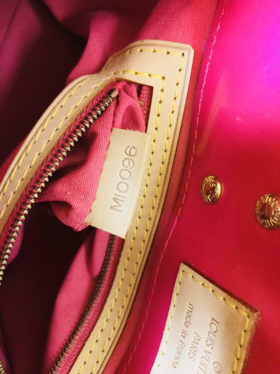◆ 新品 未使用 ◆箱付き! ルイヴィトン LOUIS VUITTON ヴェルニ ライン リードPM ピンク バッグ_画像5