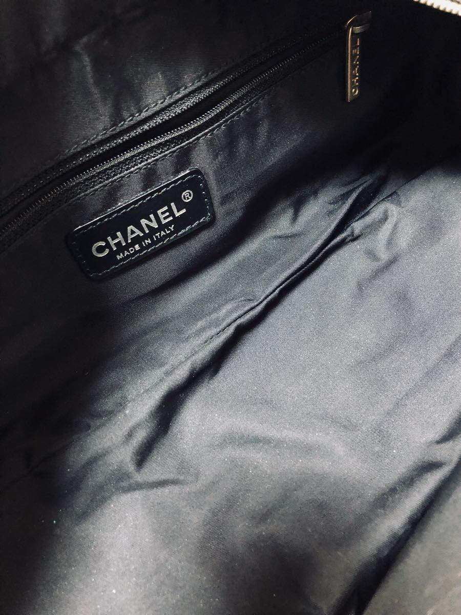 極上美品 シャネル CHANEL ニュートラベルラインMM ブラック バッグ Gカード 付属_画像6