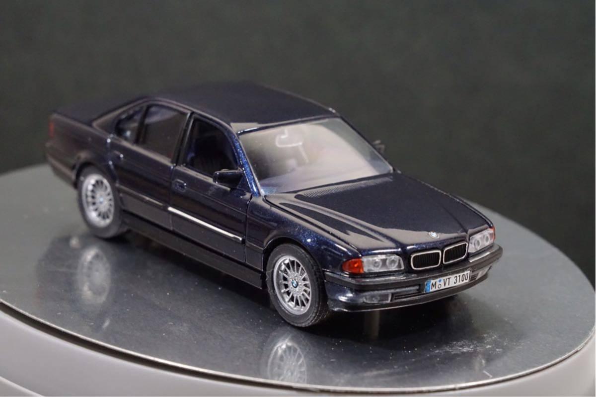中古品 1/43 希少!BMWディーラー特注品!BMW 7er E38 7シリーズ ドア、ボンネット、トランク開閉 カタログナンバー80429422181_画像6