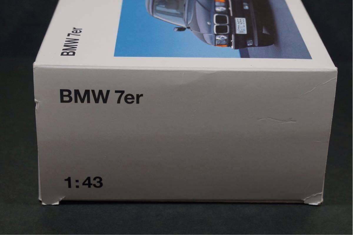 中古品 1/43 希少!BMWディーラー特注品!BMW 7er E38 7シリーズ ドア、ボンネット、トランク開閉 カタログナンバー80429422181_画像8