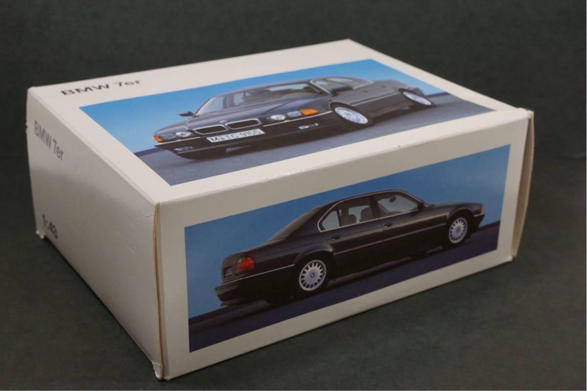 中古品 1/43 希少!BMWディーラー特注品!BMW 7er E38 7シリーズ ドア、ボンネット、トランク開閉 カタログナンバー80429422181_画像9