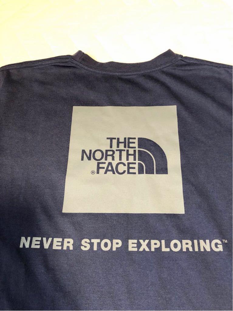 【美品!Sサイズ】THE NORTH FACE SQUARE LOGO TEE ザ・ノースフェイス スクエロゴ バックプリント コスミックブルー NT31850_画像2