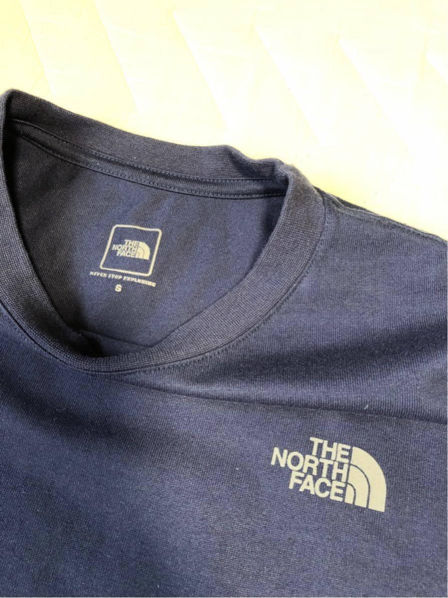 【美品!Sサイズ】THE NORTH FACE SQUARE LOGO TEE ザ・ノースフェイス スクエロゴ バックプリント コスミックブルー NT31850_画像5