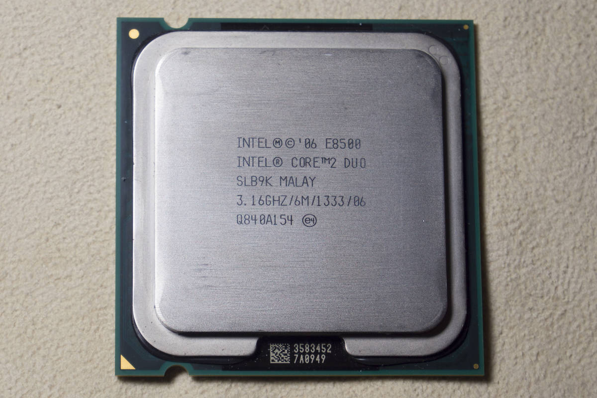 CPU Intel Core2Duo E8500 3.16Ghz/6M/1333 SLB9K 動作確認済み_画像2
