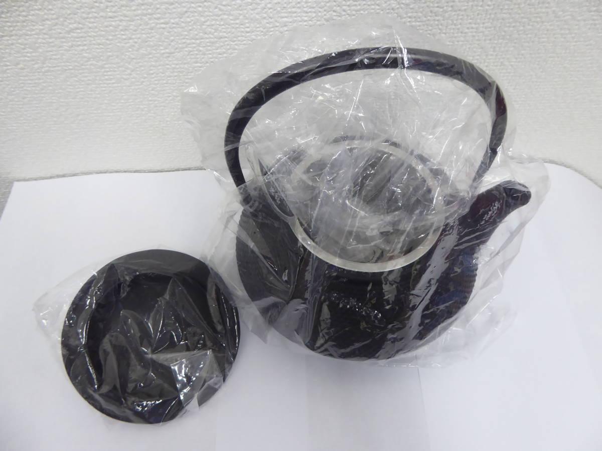 【新品未使用】【岩鋳 南部鉄器 鉄瓶 兼用 急須 5型】_画像2
