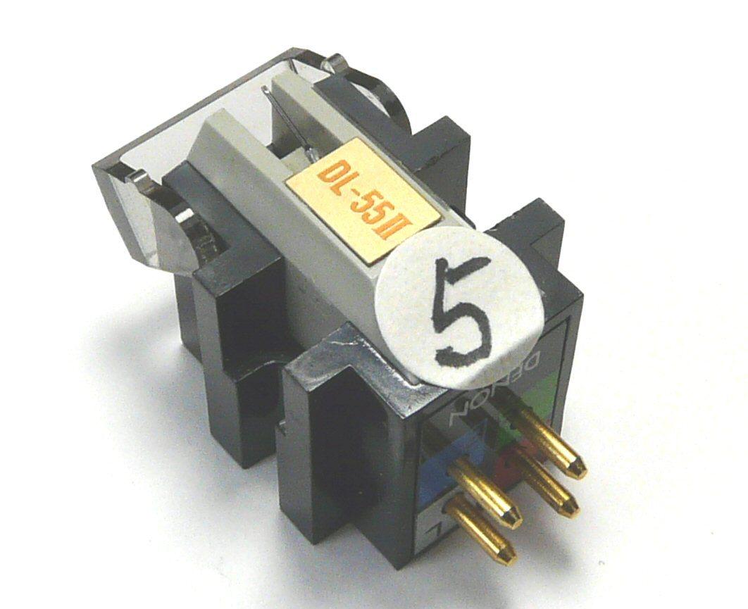 ⑤ DENON デノン DL-55Ⅱにaudio-technica オーディオテクニカ AT-OC9/Ⅲのボロンカンチレバーを移植した補修品