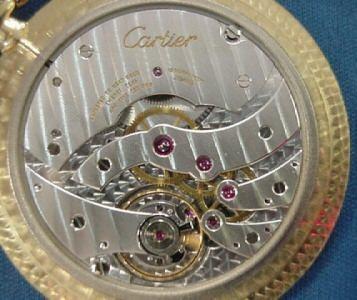 超レア良品☆カルティエ製(Cartier 製) アンティーク懐中時計☆18金無垢18KYG☆20石_画像2