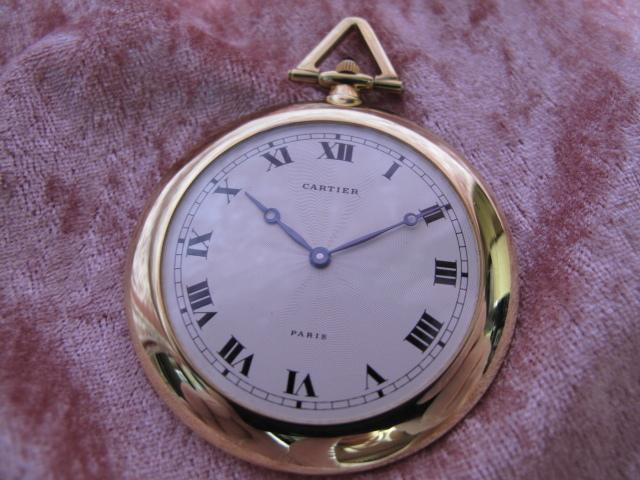 超レア良品☆カルティエ製(Cartier 製) アンティーク懐中時計☆18金無垢18KYG☆20石
