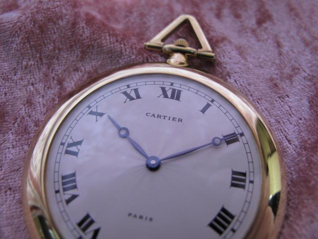 超レア良品☆カルティエ製(Cartier 製) アンティーク懐中時計☆18金無垢18KYG☆20石_画像5