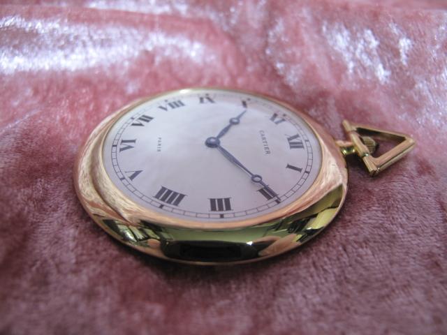 超レア良品☆カルティエ製(Cartier 製) アンティーク懐中時計☆18金無垢18KYG☆20石_画像9