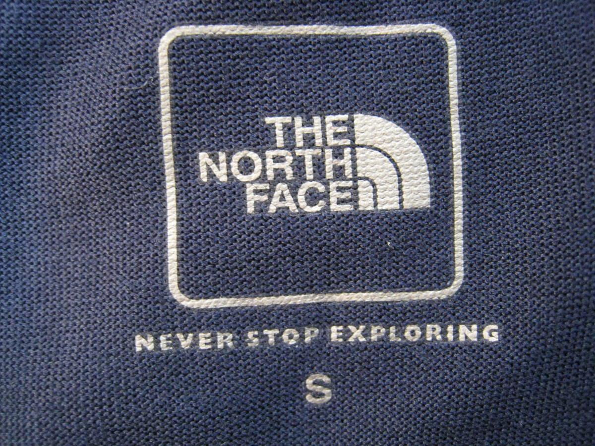 美品 THE NORTH FACE ノースフェイス L/S SQUARE LOGO TEE ボックス スクエアロゴTシャツ ロンT コズミックブルー ネイビー 紺 Sサイズ_画像3