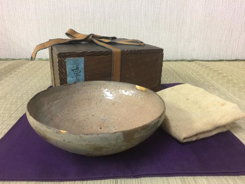 高麗 三島 平茶碗 時代品 茶道具 李朝 白象嵌