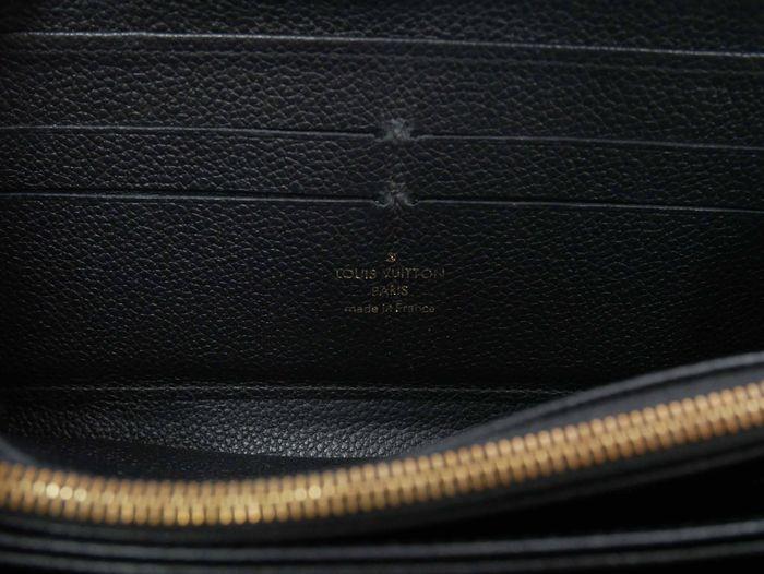 【極美品】ルイヴィトン Louis Vuitton モノグラム アンプラント ジッピーウォレット 黒 長財布 レザー 定価約12万円_画像10