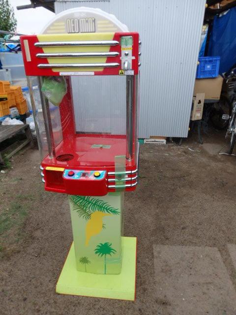37/SNK筐体 中古/ネオミニ/UFOキャッチャー/赤/レッド(マスキング)/中古/neo mini クレーンゲーム/高さ約155cm