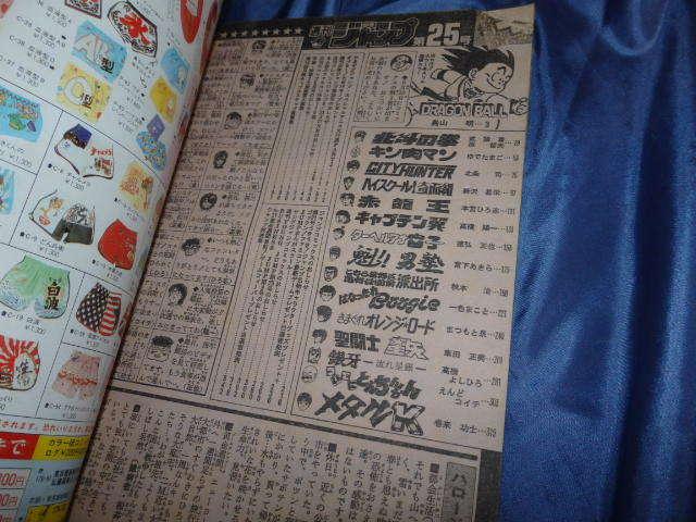 本R152/週刊少年ジャンプ 1986年 6月 2日 25号 巻頭 表紙ドラゴンボール/北斗の拳/キン肉マン/シティーハンター/こち亀/聖闘士星矢_画像3