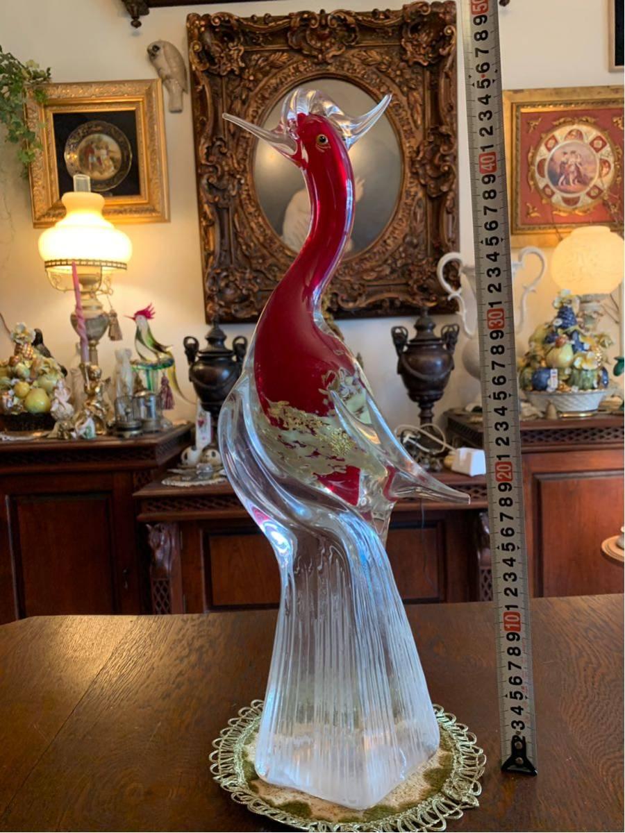 ムラノガラス 鳥オブジェ