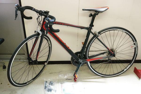 D0009】GIANT ジャイアント ロードバイク TCR 1 2016 ブラック レッド サイズS カーボン