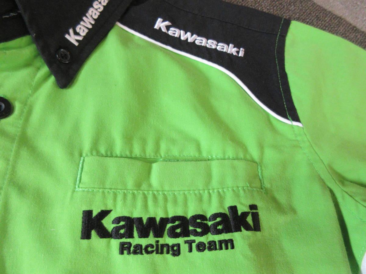 kawasaki RSタイチxRSイトウ チームシャツ M ASIA レーシング バイクウェア サーキット 8耐 レーサー 半袖 二輪_画像8