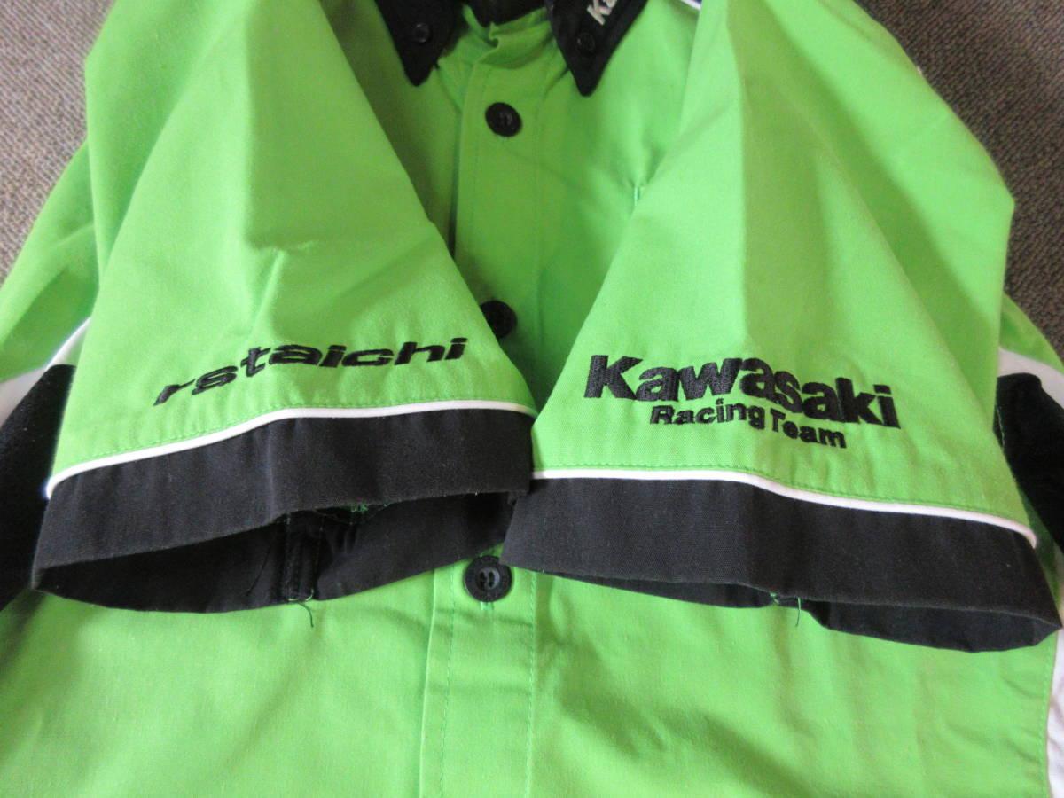 kawasaki RSタイチxRSイトウ チームシャツ M ASIA レーシング バイクウェア サーキット 8耐 レーサー 半袖 二輪_画像10