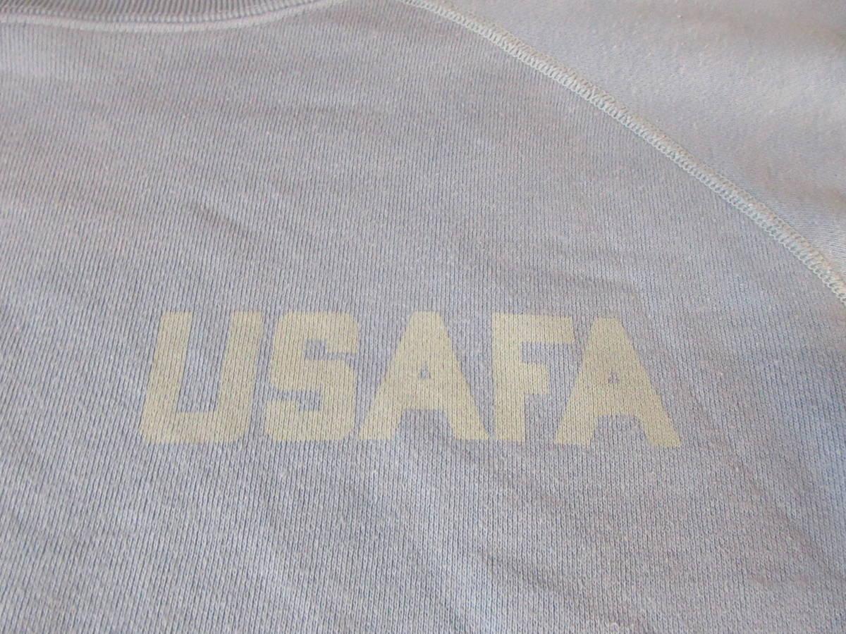 フェローズ 半袖スウェット M USAFA 染み込みプリント 4本針ステッチ ビンテージ レプリカ 復刻 アメカジ トレーナー 空軍士官学校_画像6