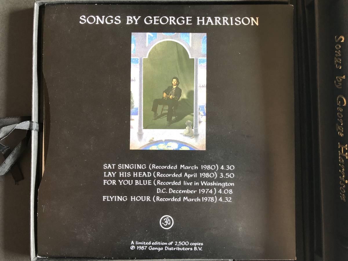 Songs by George Harrison Vol. 1 extra for review purpose roman# CXXVI Genesis Publications CD版 豪華本 廃版 直筆サイン入り_画像4