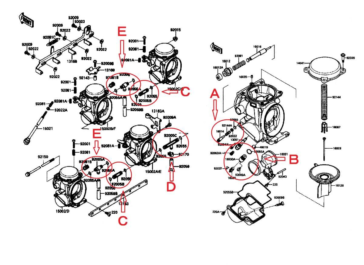 新品 CVKキャブレターオーリングセット.006 ZZR1100-C型 ZXR750/400/250 ZX-7R ZZR400/600 ZX-10/ZX-4ザンザス ZZ-R1100 パッキン_画像2
