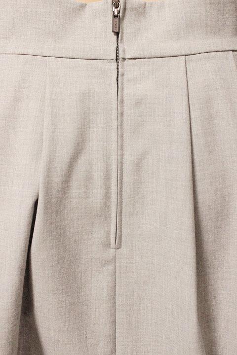 【1点限り 即決】美品 FOXEY NEW YORK フォクシーニューヨーク ブリリアント フリル プリーツ スカート 31668 ライトグレー size 42_画像4