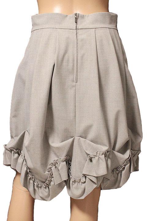 【1点限り 即決】美品 FOXEY NEW YORK フォクシーニューヨーク ブリリアント フリル プリーツ スカート 31668 ライトグレー size 42_画像3
