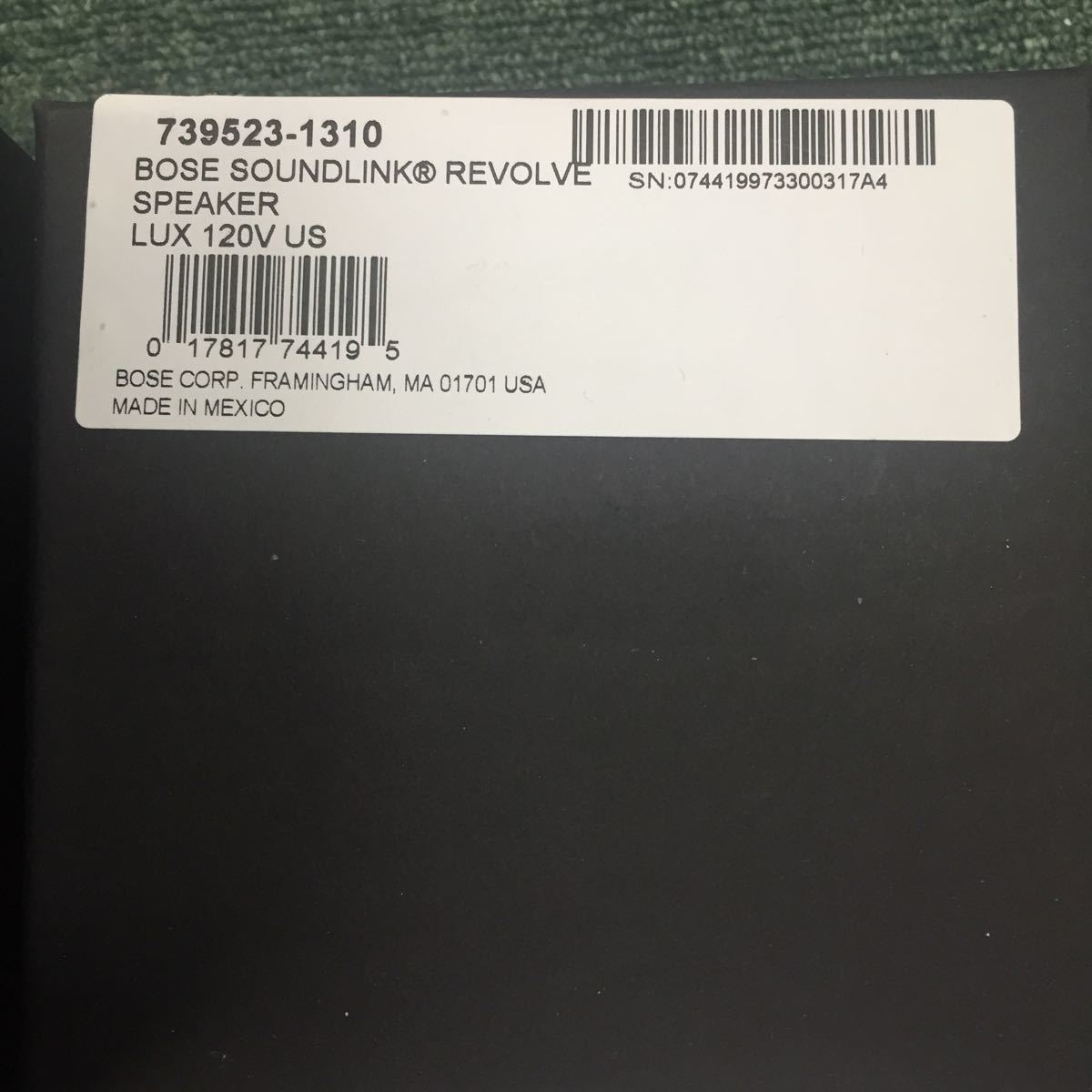 X416 BOSE スピーカー SOUNDLINK REVOLVE SPEAKR_画像5
