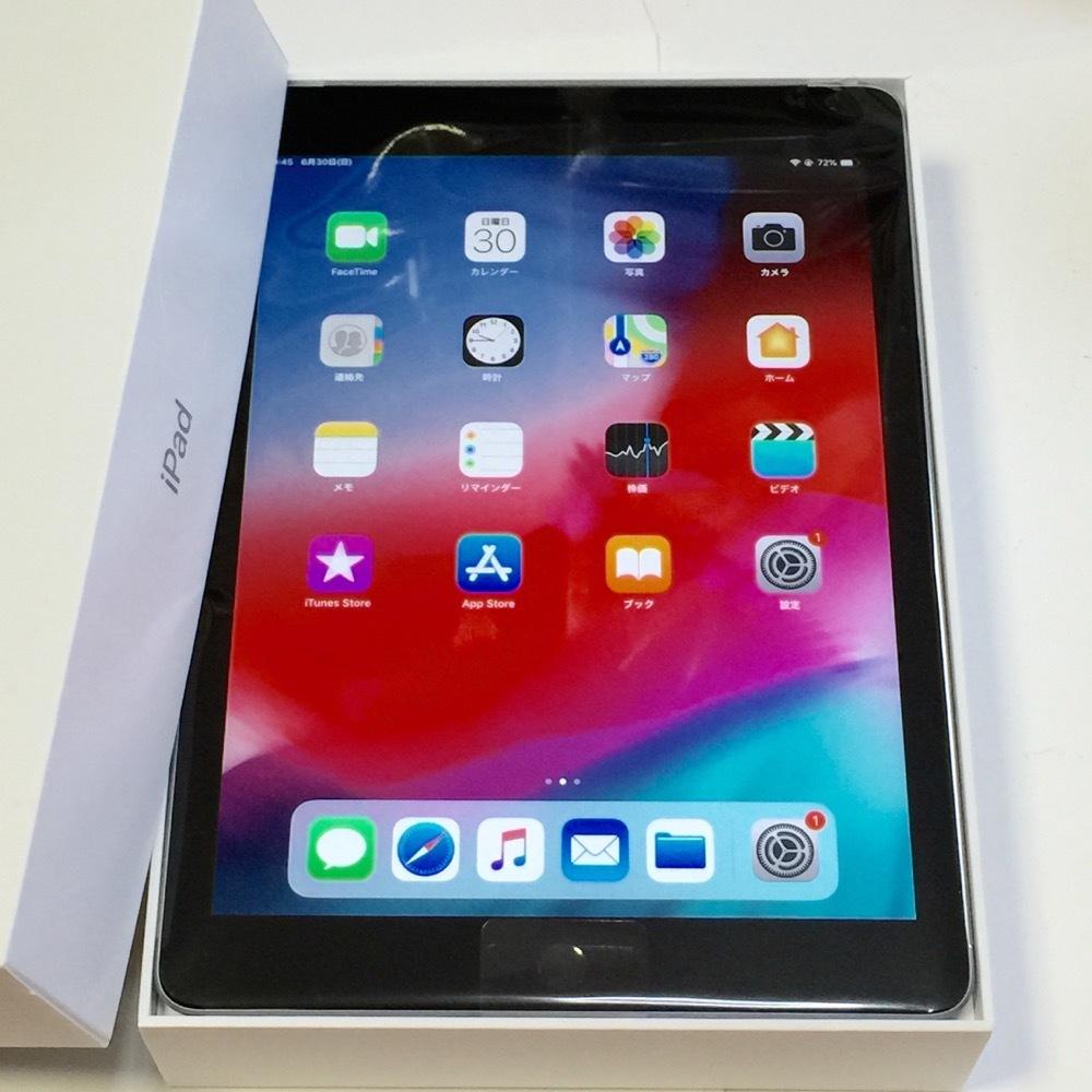 未使用新品【AppleCare Services 2022.11.3 まで 付属品】iPad 第6世代 2018モデル 32GB グレイ au_画像2