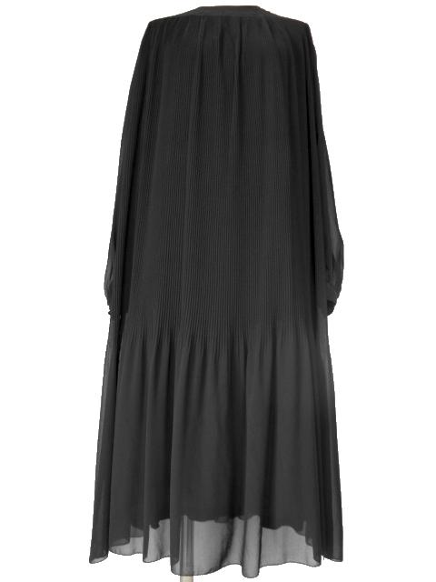 古着♪レトロ・Vintage黒プリーツシフォンワンピ♪ワンピース70s60s70年代60年代ヴィンテージ昭和11号ふんわり長袖アンティーク即決_画像3