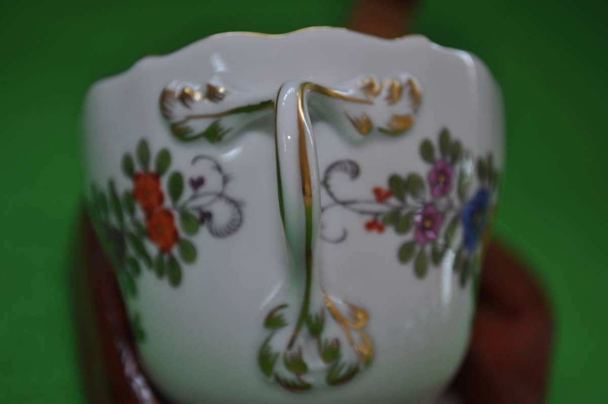 希少【マイセン】シノワズリ インドの華多彩色カップ&ソーサー1級品_画像2