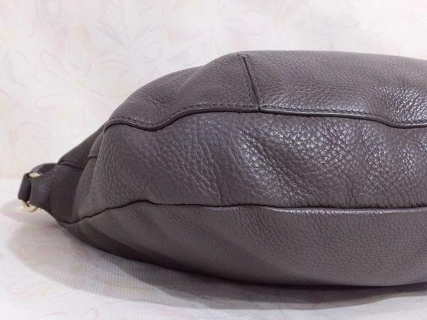 【美品/A】◆本物◆FURLA フルラ バッグ 2WAY ハンドバッグ 斜め掛け可 レザー グレー 保存袋 取説 ショップカード付き_画像9