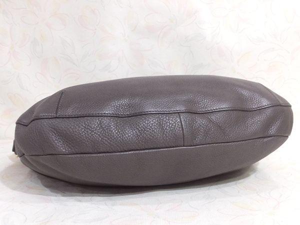 【美品/A】◆本物◆FURLA フルラ バッグ 2WAY ハンドバッグ 斜め掛け可 レザー グレー 保存袋 取説 ショップカード付き_画像8