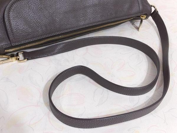 【美品/A】◆本物◆FURLA フルラ バッグ 2WAY ハンドバッグ 斜め掛け可 レザー グレー 保存袋 取説 ショップカード付き_画像7