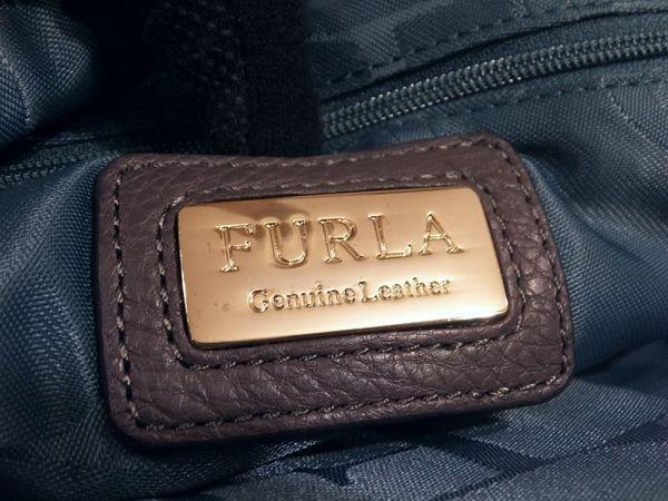 【美品/A】◆本物◆FURLA フルラ バッグ 2WAY ハンドバッグ 斜め掛け可 レザー グレー 保存袋 取説 ショップカード付き_画像6