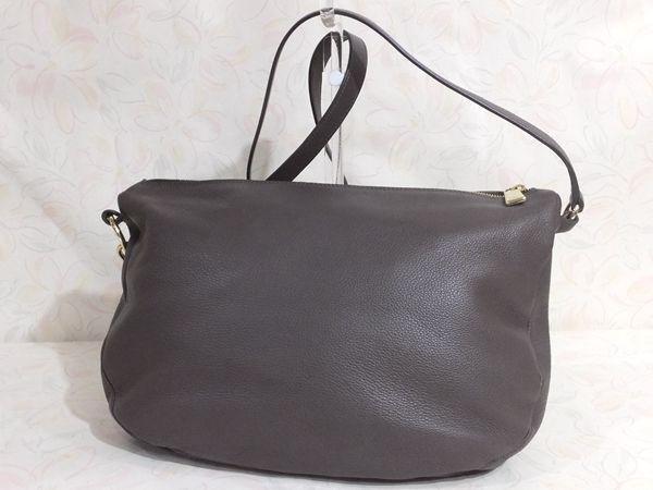 【美品/A】◆本物◆FURLA フルラ バッグ 2WAY ハンドバッグ 斜め掛け可 レザー グレー 保存袋 取説 ショップカード付き_画像3