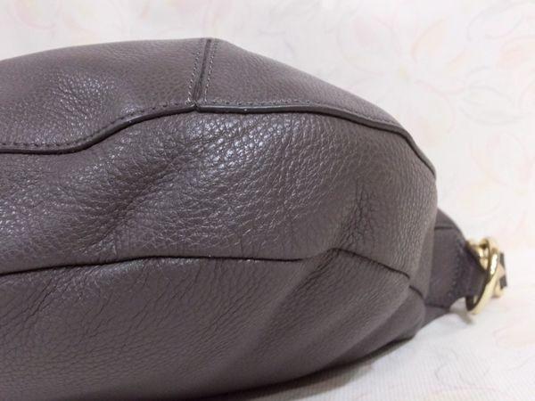 【美品/A】◆本物◆FURLA フルラ バッグ 2WAY ハンドバッグ 斜め掛け可 レザー グレー 保存袋 取説 ショップカード付き_画像10