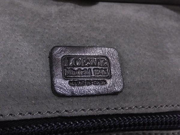 ◆本物◆LOEWE ロエベ バッグ アマソナ40 ブリーフケース ビジネスバッグ レザー アナグラム・ロゴ入り 黒_画像5