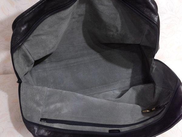 ◆本物◆LOEWE ロエベ バッグ アマソナ40 ブリーフケース ビジネスバッグ レザー アナグラム・ロゴ入り 黒_画像4