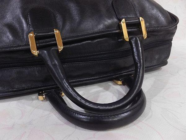 ◆本物◆LOEWE ロエベ バッグ アマソナ40 ブリーフケース ビジネスバッグ レザー アナグラム・ロゴ入り 黒_画像6