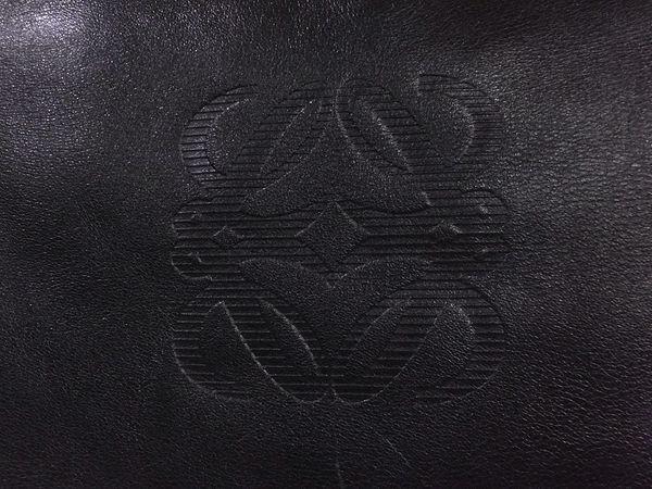 ◆本物◆LOEWE ロエベ バッグ アマソナ40 ブリーフケース ビジネスバッグ レザー アナグラム・ロゴ入り 黒_画像3