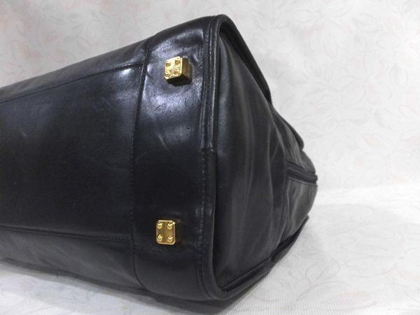 ◆本物◆LOEWE ロエベ バッグ アマソナ40 ブリーフケース ビジネスバッグ レザー アナグラム・ロゴ入り 黒_画像8