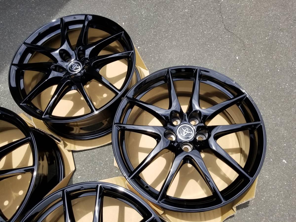 美品 鍛造 トヨタ マークX G's 純正 19インチ 8J +40 PCD114.3 黒塗装品_画像3