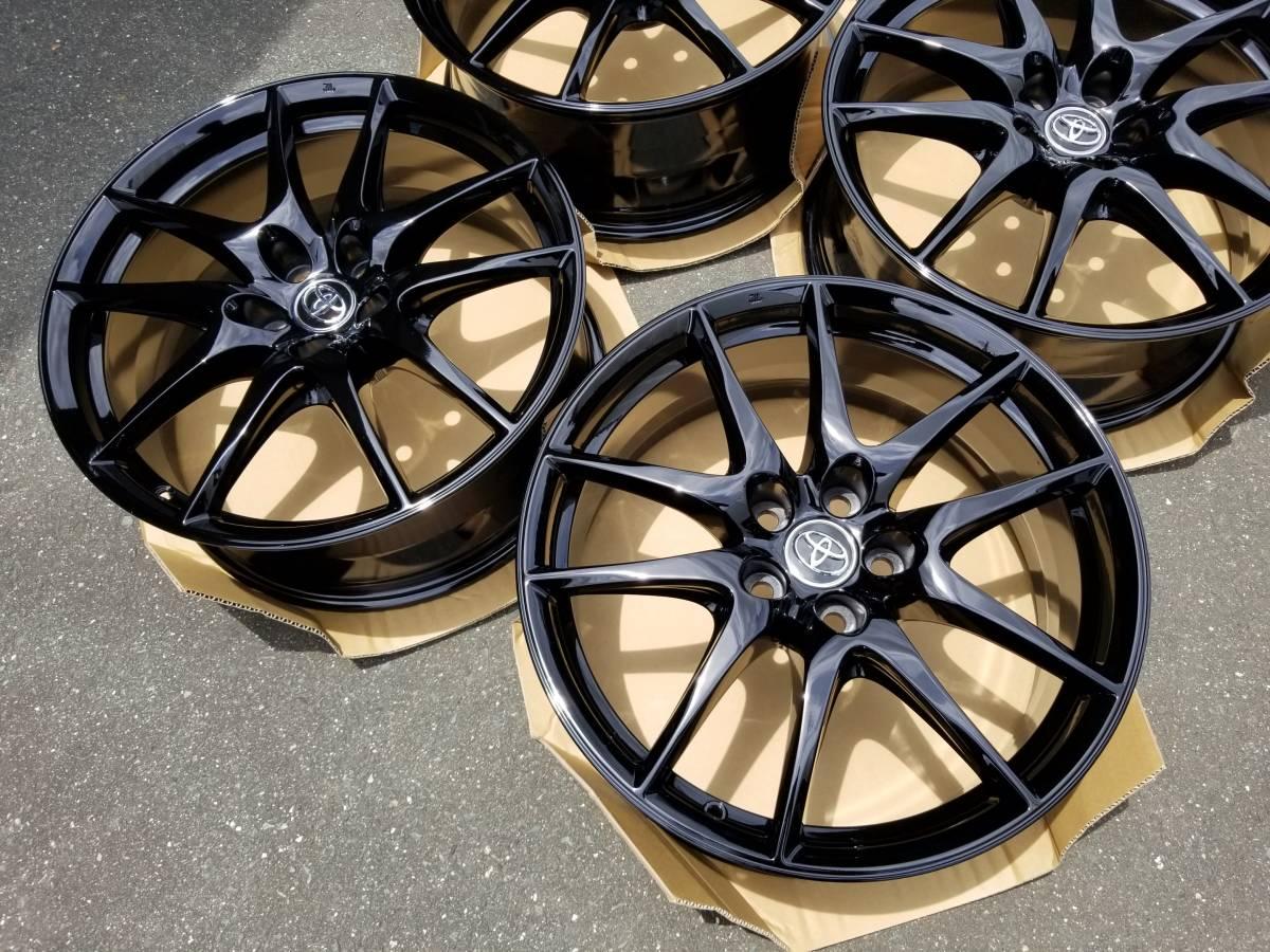 美品 鍛造 トヨタ マークX G's 純正 19インチ 8J +40 PCD114.3 黒塗装品_画像2