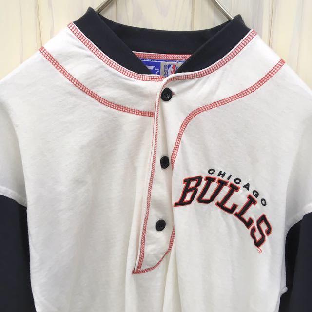 CHICAGO BULLS / シカゴ ブルズ / ベースボールシャツ / 半袖 / Mサイズ / ユニフォーム / 野球 / ゲームシャツ_画像3