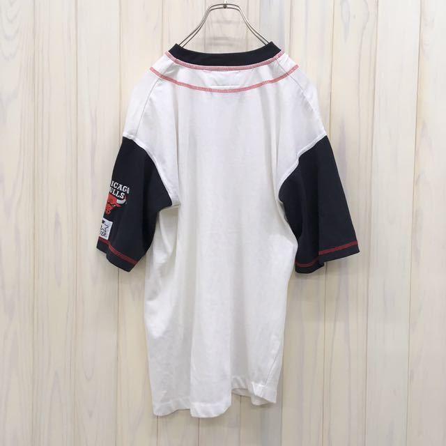 CHICAGO BULLS / シカゴ ブルズ / ベースボールシャツ / 半袖 / Mサイズ / ユニフォーム / 野球 / ゲームシャツ_画像5