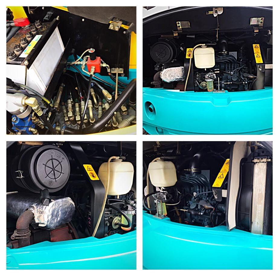 形式 クボタ ユンボ ディーゼル車 RX503S型  ■1914H クレーン仕様 マルチレバー有 倍速あり_画像9